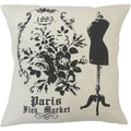 Paris Flea Market Decorative Throw Pillow