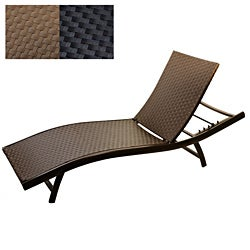 Infinita All Weather Wide Weave Wicker Sun Chaise Lounger (Set of 2)