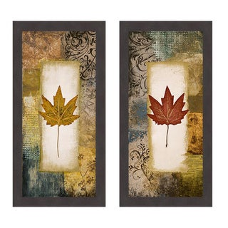 Single Leaf I and III Framed Print