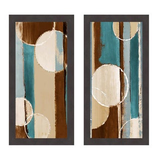 Blue Orbiting Moons III and IV Framed Print