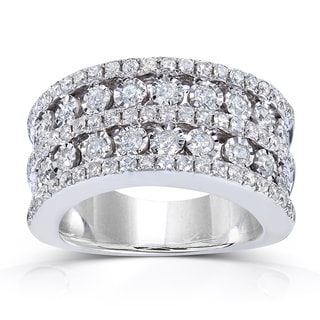 Annello 10k White Gold 1 1/2 ct TDW Ladies Diamond Band (H-I, I1-I2)