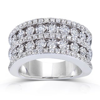 10k White Gold 1 1/2 ct TDW Ladies Diamond Band (H-I, I1-I2)
