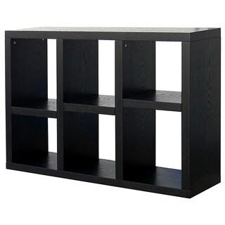Richdale 6-Cube Dark Espresso Bookcase