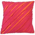 Chloe Hot Pink Ruffle Decorative Throw Pillow