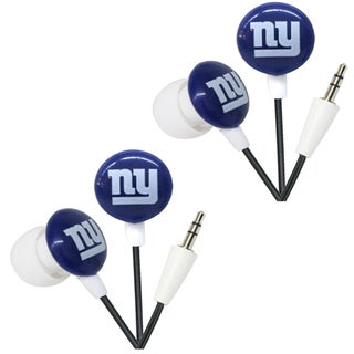 iHip NFL New York Giants Mini Ear Buds (Pack of 2)