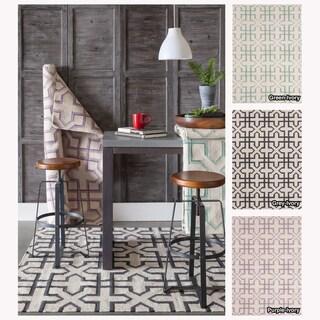 Mandara Handmade Abstract Pattern Flatweave Rug (7' x 10')