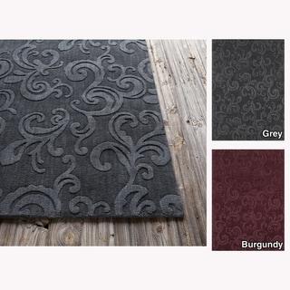 Mandara Hand-tufted Floral Wool Rug (5' x 7')