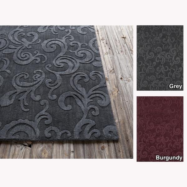 Mandara Hand-tufted Floral Wool Rug (7' x 10')