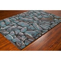 "Mandara Hand-Tufted Abstract Pattern Wool Rug (5' x 7'6"")"