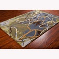 Mandara Hand-tufted Multicolor Abstract Wool Rug (5' x 7')