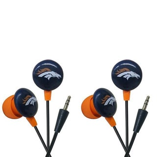 iHip NFL Denver Broncos Mini Ear Buds (Pack of 2)