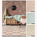 Mandara Handmade Geometric-pattern Flat-weave Area Rug (5' x 7')