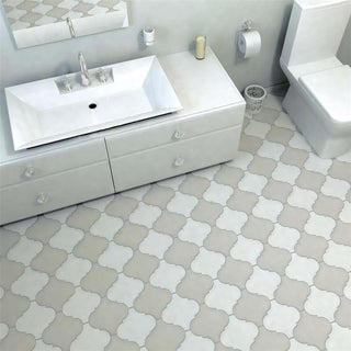 SomerTile 8x8 Morocco Provenzale White Porcelain Floor and Wall Tile (Pack of 16)