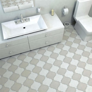 SomerTile 8x8-inch Morocco Provenzale White Porcelain Floor and Wall Tile (16 tiles/4.32 sqft.)