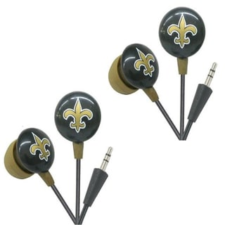 iHip NFL New Orleans Saints Mini Ear Buds (Pack of 2)