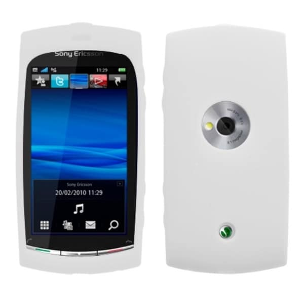 INSTEN Solid White Skin Phone Case Cover for Sony Ericsson U5a Viva