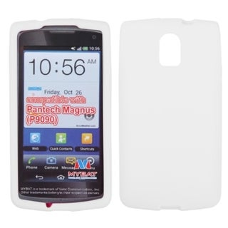 BasAcc Solid White Skin Case For Pantech P9090 Magnus