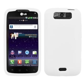 BasAcc Solid White Skin Case For LG MS840 Connect 4G/ LS840 Viper
