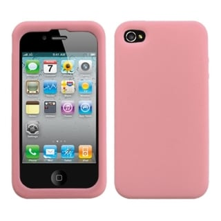 BasAcc Solid Pink Skin Case For Apple iPhone 4S/ 4