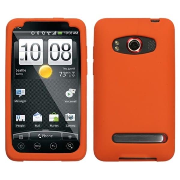 INSTEN Solid Orange Skin Phone Case Cover for HTC EVO 4G
