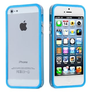 BasAcc Baby Blue/ Clear Mybumper Protector Case For Apple� iPhone 5