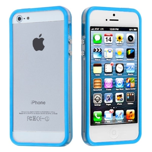 BasAcc Baby Blue/ Clear Mybumper Protector Case For Apple® iPhone 5