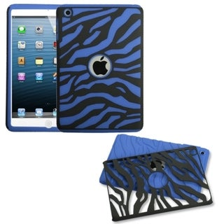 BasAcc Black Zebra Skin/ Dark Blue Fusion Case For Apple iPad Mini