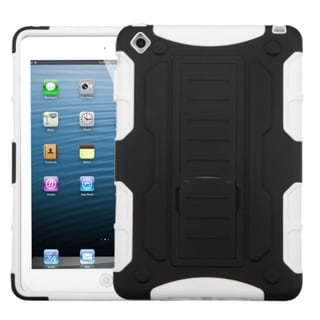 BasAcc Black/ White Car Rubber Armor Stand Case For Apple� iPad Mini