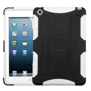 BasAcc Black/ White Car Rubber Armor Stand Case For Apple iPad Mini