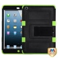 BasAcc Black/ Electric Green Tuff Hybrid Case For Apple iPad Mini