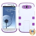 BasAcc Rubber White/ Purple Tuff Hybrid Case For Samsung� Galaxy S3
