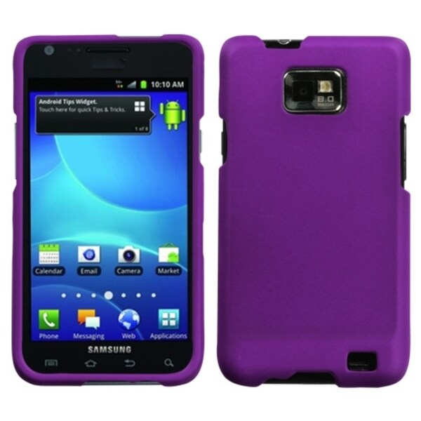 BasAcc Grape Rubberized Protector Case For Samsung© I777 Galaxy S Ii