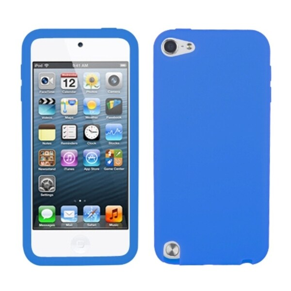 INSTEN Solid Dark Blue Skin iPod Case Cover for Apple iPod Touch
