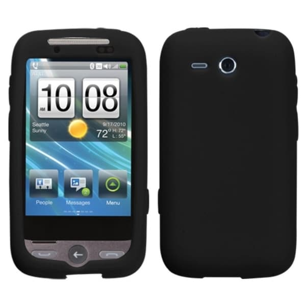 INSTEN Solid Black Skin Phone Case Cover for HTC Freestyle