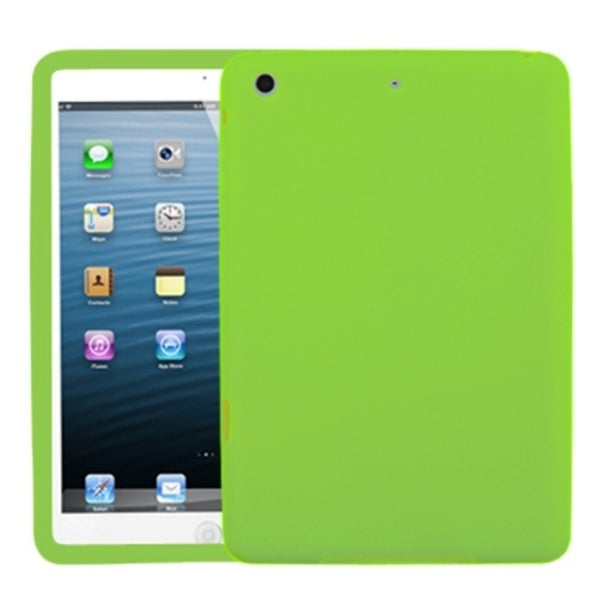 INSTEN Solid Electric Green Skin Tablet Case Cover for Apple iPad Mini