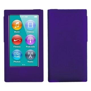 INSTEN Solid Dark Purple Skin iPod Case Cover for Apple iPod nano