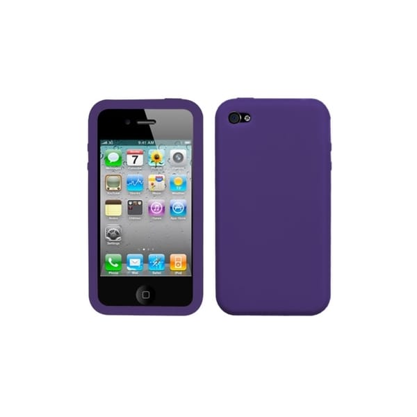 BasAcc Solid Dark Purple Skin Case For Apple iPhone 4S/ 4