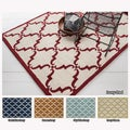 Hand-Tufted Moroccan Pattern Wool Area Rug (7' x 10')