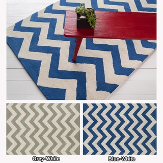 Hand-tufted Vibes Pattern Wool Rug (7' x 10')