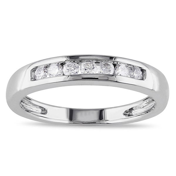 Miadora 14k White Gold 1/4ct TDW Diamond Anniversary Ring (G-H, I1-I2)