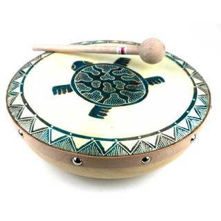 Handmade Turtle Frame Drum (Indonesia)