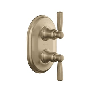 Kohler Bancroft Stacked Thermostatic Trim with Metal Lever Handle