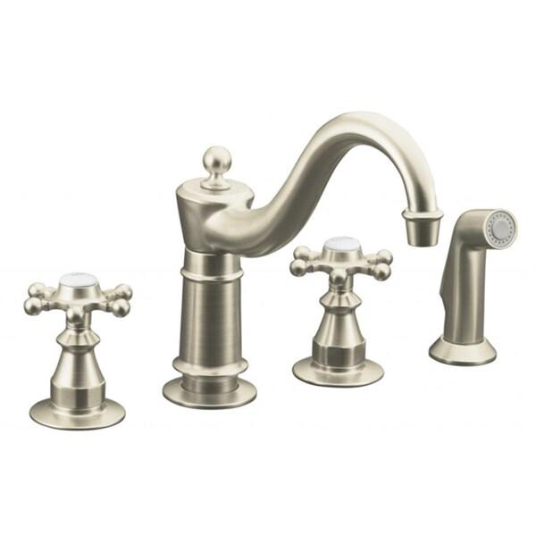 Kohler Antique Kitchen Faucet: Kohler Antique Kitchen Vibrant Brushed Nickel Sidespray