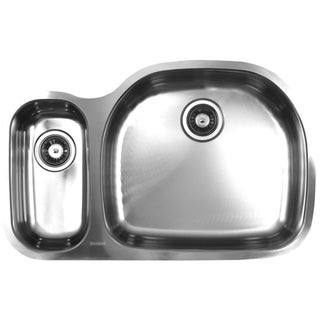 Ukinox Double-Bowl Undermount European-Finish Stainless-Steel Sink