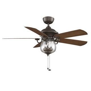 Fanimation Crestford 52-inch Oil-Rubbed Bronze 3-light Ceiling Fan