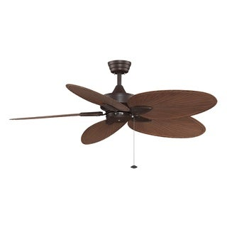 Fanimation Windpointe 52-inch Rust with Palm Blades Ceiling Fan
