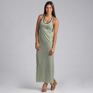 Stanzino Women's Circle Print Sleeveless Maxi Dress