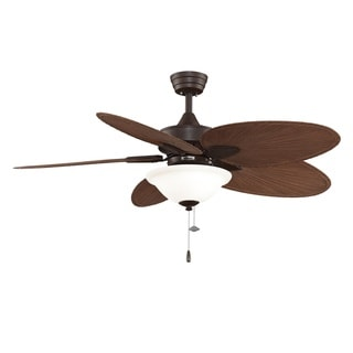 Fanimation Windpointe 52-inch Rust Frosted Glass Ceiling Fan