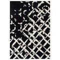 Handmade Black/ Cream Blended Wool Rug (8' x 10')