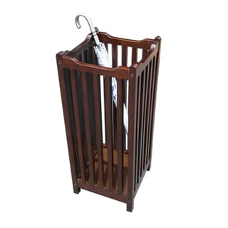 Office Accents Mahogany Hardwood Finish Visalia Umbrella Stand